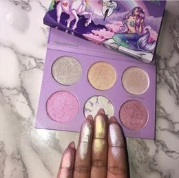 Wholesale Nail Wear - Big discount! Hot New Tooth and Nail Cosmetics UCN Vs MERMAID Highlighter Palette 6 Colors Makeup Bronzers Highlighters Powder Free Shipping
