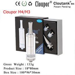 Wholesale Dry Herb Atomizers Kit - Cloupor Cloutank M3 and Cloutank M4 Atomizer High Quality Cloutank M3 M4 Dry Herb Wax 2in1 Kit Vaporizer with Replacement Coils E Cigarettes