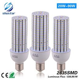 Wholesale 277v E27 - LED Corn Light Bulb 20W 30W 40W 50W 60W 80W 90W E27 E40 Garden Warehouse parking lighting AC 100-277V