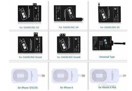 Wholesale Qi S3 Receiver - Qi Charger Receiver Wireless Charging Adapter Receptor Receivers For iphone 5s 6 6s plus samsung galaxy s3 s4 s5 note 3 4
