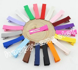 Wholesale Grossgrain Ribbon Clips - 120pcs lot New style Grossgrain Ribbon Alligator Clip Lined Clips,Single Pronged Alligator Clips,baby girls Hair Accessories FJ3206