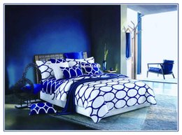 Wholesale Royal Blue Bedding - 2014 new European Style elegant royal bed linen blue comforter cover set bedding luxury duvet cover set