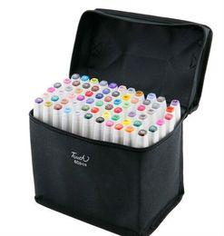 TouchFive 80 цветов манга графические искусства+маркеры искусства-dibujo штамп перо цвета в сумке для хранения маркеры hidrocor быстрая доставка от Поставщики копировальный маркер оптом
