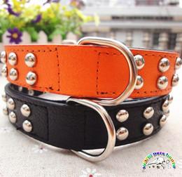 collari di cane nero arancione Sconti Pet Products Collari a spillo con collare a spillo 2,5 cm in pelle nera per colletto a spillo per Alaskan Husky