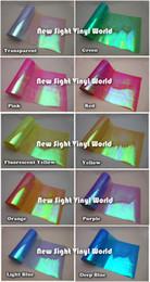 Wholesale Rainbow Rolls - 10 Rolls Lot 10 Colors Rainbow Effect Car Light Chameleon Headlight Film Taillight Tint Film Vinyl Color Change Size:0.3*10M