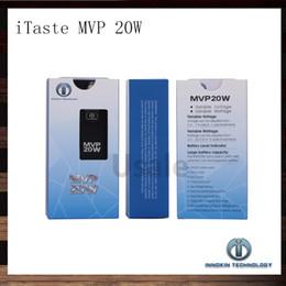 Wholesale Innokin Itaste Batteries - Innokin iTaste MVP 20W VV VW 6.0~20W Battery Mod MVP 3.0 2600mAh Batteries With OLED Screen 510 eGo Adapter