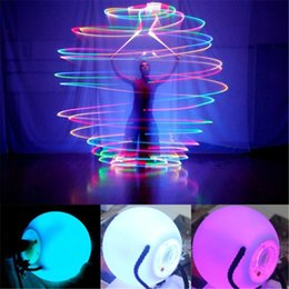 Wholesale Led Multicolor Lights - LED POI Thrown Balls Belly Dance LED Ball Multicolor Ball Light for Professional Belly Dance Level Hand Props Luminous Ball Shine Night