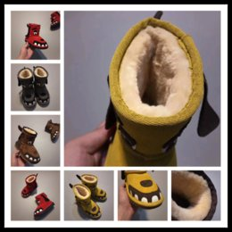 Wholesale Girls Youth Boots - Top Winter keep warm Kids teeth snow boots cowhide Ankle for children Authentic Cute girls and boys snowboots unisex shoes youth EUR 24-34