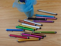 Wholesale Touch Screen Apple Ipad 3g - Mix And Match Color Capacitive Screen Metal Stylus Touch Pen with Clip For iphone3G 3G S4 4S 5S N7000 I9100 iPad Tablet iPod etc.Touch Pen