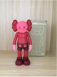 Wholesale Birthday Gift Toys - Red color Kaws Original Fake Action Figure Collection Doll Christmas Gifts Birthdays Toys Gloomy-Bear MoMo Bear POPOBE Qee Bearbrick