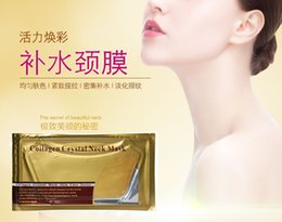 3pcs / lot Pro Gold Collagen Crystal Neck Neck Mask Collagen Neck Lift Masks Gold Crystal Neck Mask desde fabricantes