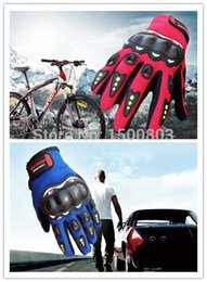 Wholesale Gloves Bycicle - Wholesale-Free shipping unisex outdoor sports bike bycicle motorcycle riding anti-slip elastic breathable full finger gloves