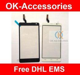 Wholesale Optimus L9 - Touch Screen Touch Panel Digitizer For LG Optimus L9 II D605 10PCS   Lot Free DHL EMS
