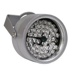 Wholesale 48 Led Ir Illuminator - 850nm 48 IR LED Infrared Illuminator Light IR Night Vision for CCTV Security Cameras Fill Lighting metal gray Dome Free shipping