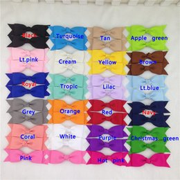 "Wholesale Pinwheel Bows - 44pcs lot 3.5"" Handmade Pinwheel grosgrain Hair Ribbon Bow Cheerleading Bows WITH Clips For Girls Hair Accessories"