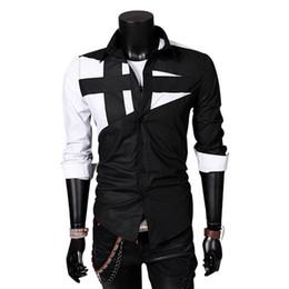 Wholesale Korean Slim Fit Shirts Brand - FG1509 Casual Men Shirts Brand Chemise 2015 Fashion Slim Fit New Korean Style Long Sleeve Camisetas Shirt Summer Style THY258