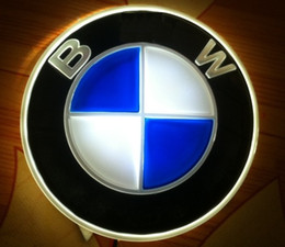 Wholesale Bmw Badge Light - 4D Car Emblem Car Logos Badge Light Case for BMW Front and Rear Replacement DRL Red Blue White option