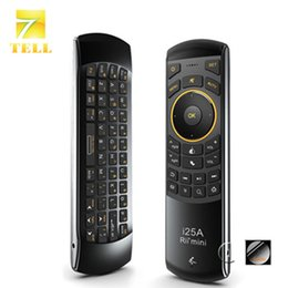 Wholesale Mini Wirless Keyboard - Wholesale-Rii mini i25A 2.4G Mini Wirless Keyboard Air Fly Mouse With Earphone Jack High Quality For MINI PC HTPC Smart Android TV Box