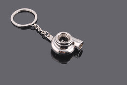 Wholesale Turbocharger Chains - Most Popular Turbo KeyRing Keychains Personality Alloy Air Blower Key Ring Chain Turbine Turbocharger Sleeve Bearing