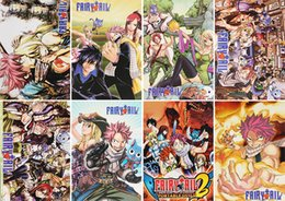 Wholesale poster quality - Cartoon Anime Fairy Tail Posters Paper Poster Wall Sticker Room Decoration 42X29cm 8Pcs set High Quality Free Shipping