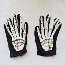 Wholesale Ghost Suit - Wholesale-Halloween latex terror ghost skull foam cloth gloves ghost hand clothes suit with gloves wholesale C-112