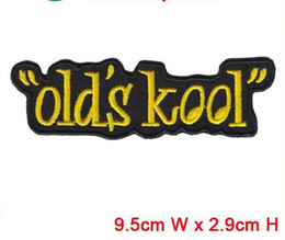 Wholesale China Manufactory - old's kool embroidery patch with words hot cut border Iron on accessories good quality manufactory in China can be customized