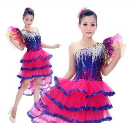 Wholesale Latin Dance Competition Costumes - New female Latin Dance Costume latin dance costumes for women High quality stage performance service latin competition dress