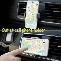 Wholesale Outlet For Car - Universal car phone holder multifunction portable outlet automobile Apple mobile navigation 360 Rotate bracket For iphone HTC Samsung