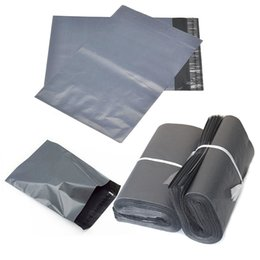 Wholesale Mailbags Envelopes - 100pcs 17*30cm Gray waterproof Poly PE Self-seal Express Professional Mailbag Plastic Bag Envelope Courier Postal Mailing Bags