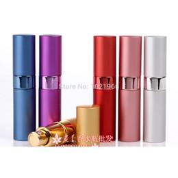 Wholesale 15ml Bottle Spray - 15ML Aluminum Perfume Bottle Spray Travel Refillable MINI atomizer Cosmetic Containers
