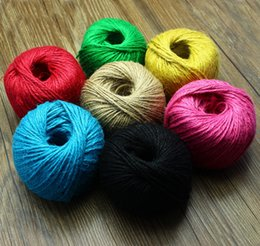 Wholesale Colored Bakers Twine Wholesale - Colored Jute Twine 700m *3Ply Decorative Handmade Accessory Hemp Rope bakers Twine (Mix color 700M LOT)