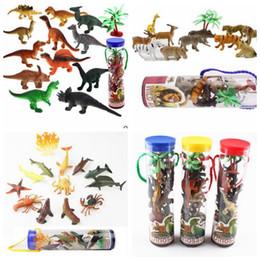 Wholesale Plastic Animal Figures Set - 12 pcs 1set Dinosaur Toy Set Plastic Play Toys Dinosaur Model Action and Figures Best Gift for Boys Animal Action Figures Playset KKA3369