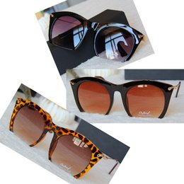 Wholesale Women S Rimless Eye Glasses - Newest Semi-rimless Sunglasses Women's Cat Eye Glasses Metal Leg Eyewear Free Shipping S-048
