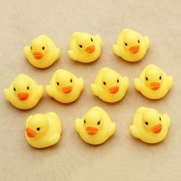 Wholesale Ducky Baby Shower Favors - Wholesale- 10Pcs set Cute Rubber Duck Ducky Duckie Baby Shower Birthday Party Favors Toys Best Gift For Children Kids F1