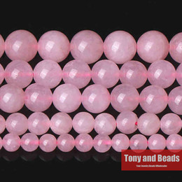 """Wholesale Pink Rose Quartz Jewelry - Wholesale-Free Shipping Pink Rose Quartz Loose Beads Stone 15"""" Strand 2 3 4 6 8 10 12 MM Pick Size For Jewelry Making Q6"""