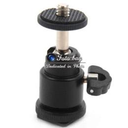 Wholesale Hotshoe Adapter - Mini Adjustable Swivel Angle Tripod Ball head Standard 1 4'' Screw HotShoe Mount Adapter Holder For Canon Nikon Sony DSLR Tripod