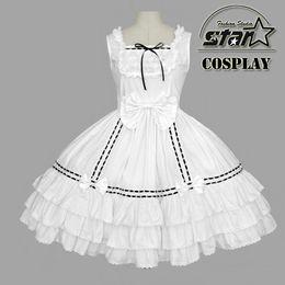 Wholesale Plus Size Alice Costume - Wholesale-Plus Size Alice In Wonderland Costume Maid Cosplay Anime Lolita Dress Halloween Costumes For Girls Women Masquerade Dress Wear