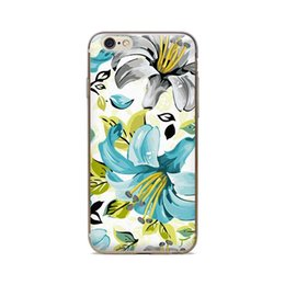 Wholesale Iphone Case 4s Flower Pattern - Wholesale For iPhone 4 4S 5 5S 5C 6 6S 6Plus Of Painted Flowers Pattern Of Skin TPU Silicone Gel Protective Cover