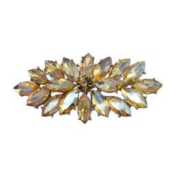 Placas de vidrio vintage online-Vintage rodio chapado en plata Champagne Glass Marquise Crystal Diamante Broche Prom Party Pin regalos envío gratis