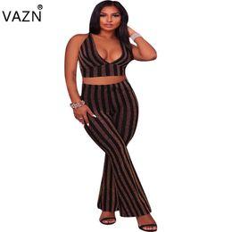 VAZN Top Quality High Design 2017 Club Wear Sexy Backless de cuerpo entero Jumpsuit 2 piezas Casual Jumpsuit L6960 q171118 desde fabricantes