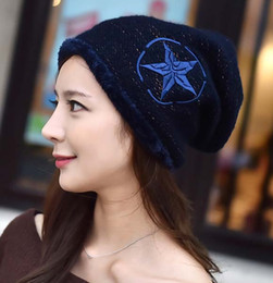 Wholesale Cashmere Hat Sale Women - 2015 sale fur hats for women new autumn and winter fashion Warm double knitted wool hat ski cap