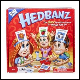 Wholesale Family Board Games New - New Hedbanz Guess Game For Baby Interesting Family Party Poopyhead Board Game Trading Card Games CCA8329 200pcs