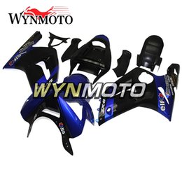 Wholesale Kawasaki Zx6r Blue Fairings - Full Fairings For Kawasaki ZX-6R 636 2003-2004 03 04 Injection ABS Plastics Hull Covers Motorbike ZX6R Covers New Panels Black Dark Blue New