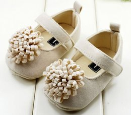 Wholesale Stylish Kids Shoes - 100% Cotton Infant Booties Stylish Flower Soft Sole Infantil Bota Sapato Bebe Kid Shoe Baby Girl First Walker In Stock
