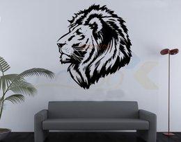 Wholesale Lion Head Wall Decal - lion head kid room nursery decal zooyoo8004 decorative adesivo de parede removable vinyl wall sticker