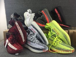 Wholesale Photo Running - Real photos new kanye west SPLY boosts 350v2 Running shoes for men women breathable ultra boost trainers 2017 fashion sports athletic shoes