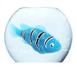 Wholesale Toy Electronic Pets - Original Robo fish Robofish Electric Toy Robo Fish Emulational Toy Robot Fish Electronic pets Creative Baby toys LED Robot Fish with Box