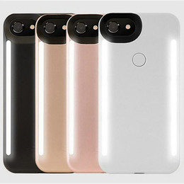 Wholesale double side led light box - LED Light phone Cases Phone Double Sides Light Battery Case Cover For iphone 7plus 7 6plus 6 6splus With Retail Box
