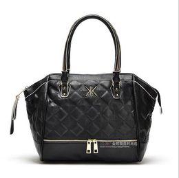 Wholesale Bag Family - 2014Winter! Kim Kardashian Kollection triangle tote KK family design women handbag shoulder bag come with tag and chain KKHB21