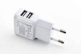 Canada USB Chargeurs de Téléphone portable EU / US plug 2 usb port Adaptateur de charge 5V 2A pour iPad iPhone SAMSUNG note 1pc drop shipping cheap ipad drops Offre